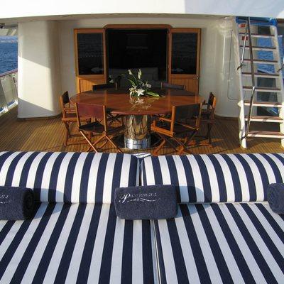 Fiorente Yacht Aft deck sun beds