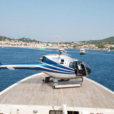 Bleu De Nimes Helicopter Landing