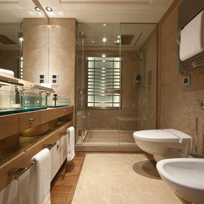 Naia Yacht Guest Bathroom