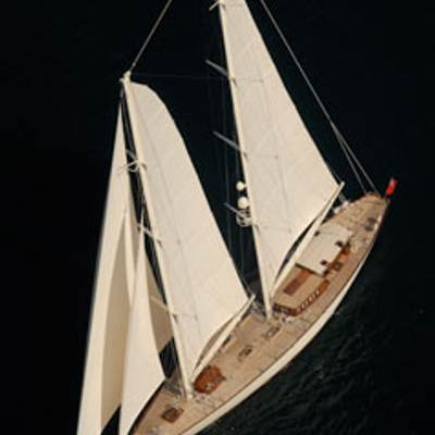 Gweilo Yacht Overhead - Sails