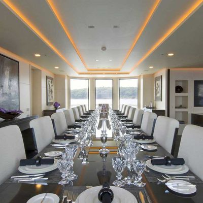 Siren Yacht Dining Salon