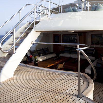 Luna Yacht Deck Staircase