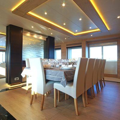 Tatiana Yacht Dining Salon
