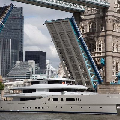 Nautilus Yacht Passing Through A Bridge