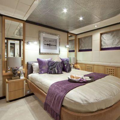 Big Change II Yacht Purple Guest Stateroom