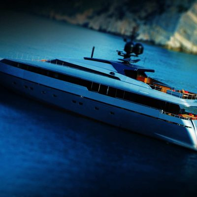 4A Yacht Aerial View - Profile