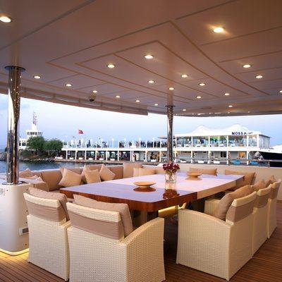 Tatiana Yacht Exterior Dining