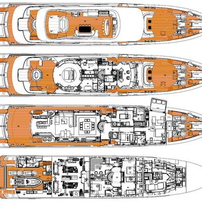 Inception Yacht Deck Plans