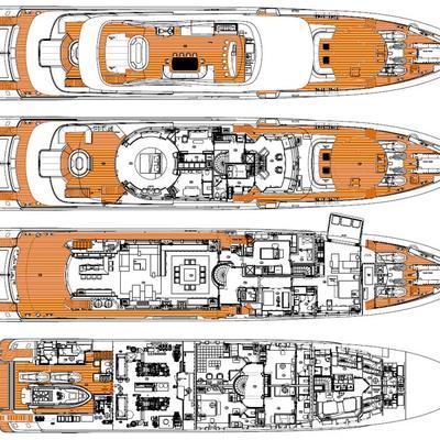 Inception Yacht Deck Plans
