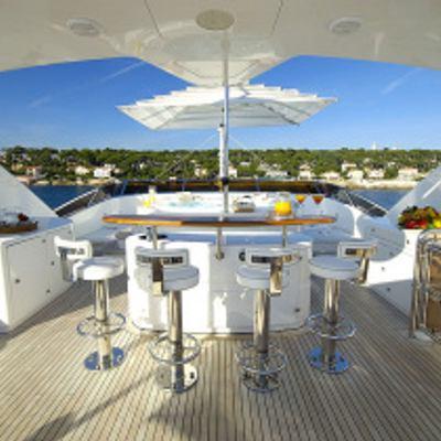 Aura Yacht Sundeck Bar