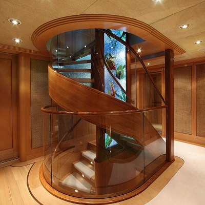 Laurel Yacht Staircase into Foyer