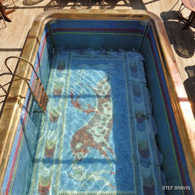 Christina O Yacht The Mosaic Pool