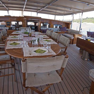 Athos Yacht Exterior Dining