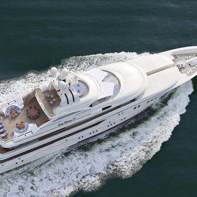 Lady Kathryn V Yacht Aerial View