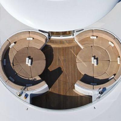 Capri I Yacht Aerial View - Circular Seating