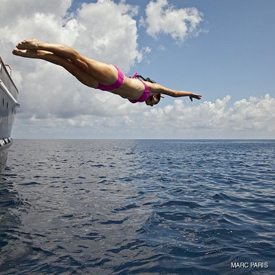 Seawolf Yacht Woman Diving