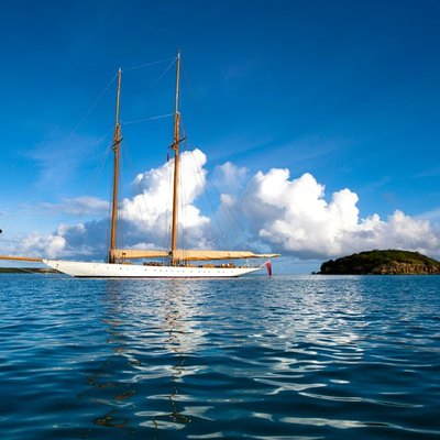 Elena Yacht Sails Down