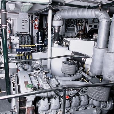 Axia Yacht Engine Room