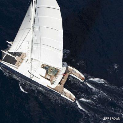 Hemisphere Yacht Running Shot - Aerial