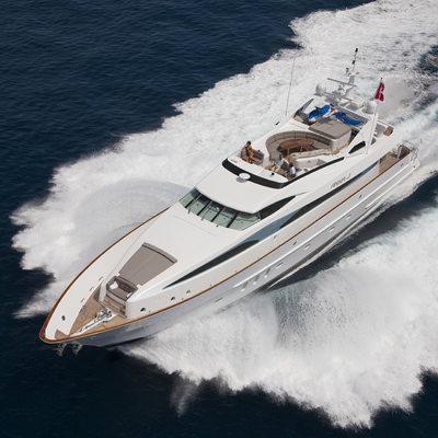 Strega Yacht Running Shot - Aerial View