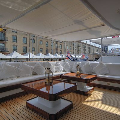 CD Two Yacht Main Aft Deck Sitting Area