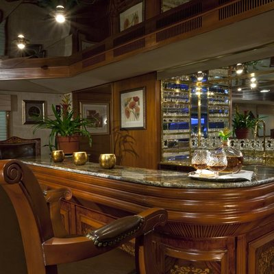 Golden Compass Yacht Main Salon Bar