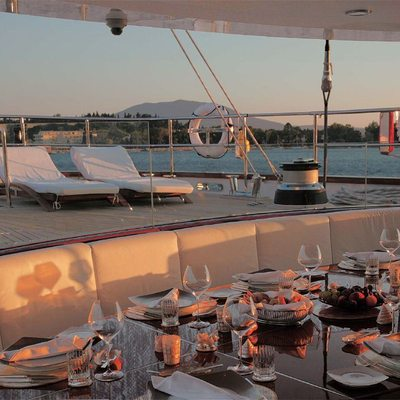 Parsifal III Yacht Exterior Seating