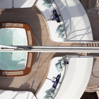 Luna Yacht Overhead