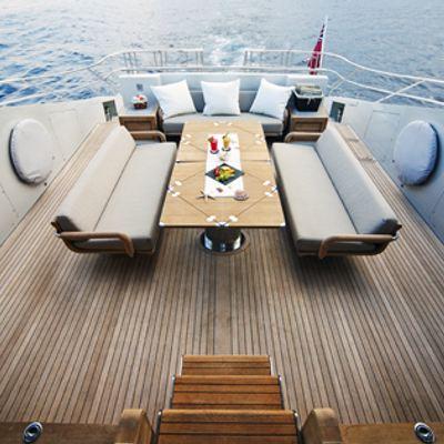 Escape II Yacht Aft deck