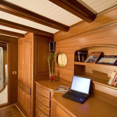 Take It Easier Yacht Desk Area