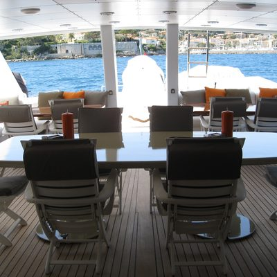 Costa Magna Yacht Upper Deck Dining & Seating