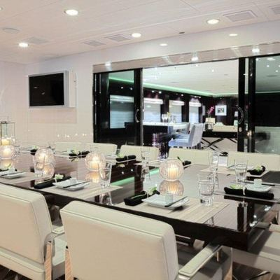 Carpe Diem Yacht Interior Dining