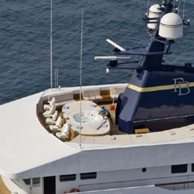 Force Blue Yacht Upper View - Sundeck