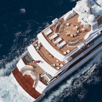 Sunrise Yacht Running Aft Aerial