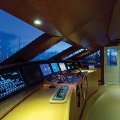 Chosen One Yacht Pilothouse