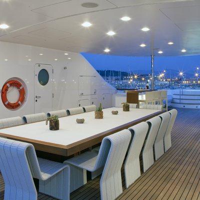 Baraka Yacht Exterior Dining