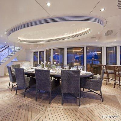 Hemisphere Yacht Aft Deck Dining