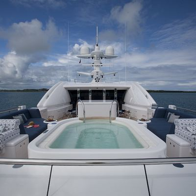 Sycara V Yacht Sundeck View Aft from Forward Seating