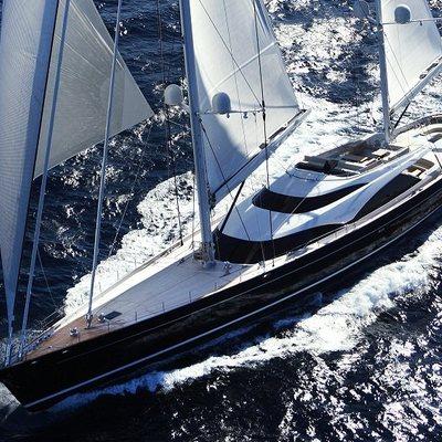 Twizzle Yacht Running Shot - Aerial