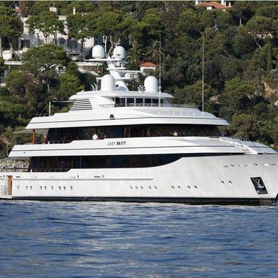 Lady Britt Yacht At Anchor