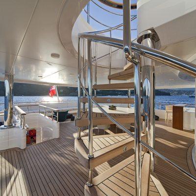 Baraka Yacht Upper Deck - Stairwell