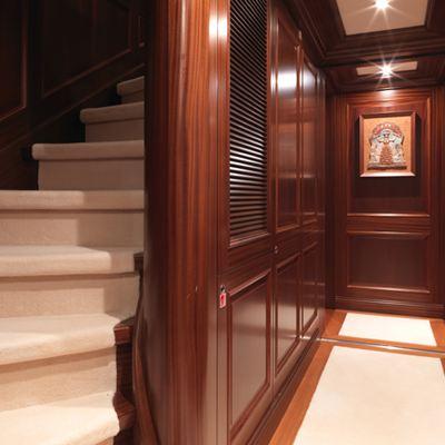 My Little Violet Yacht Stairwell