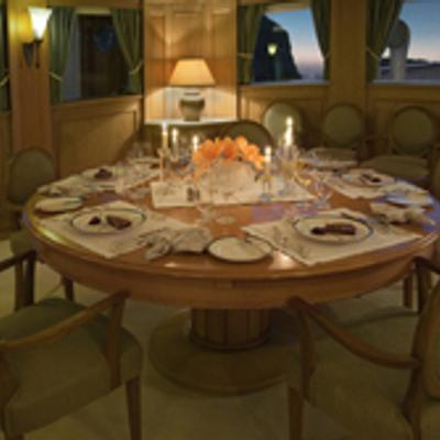 Istros Yacht Interior Dining Table