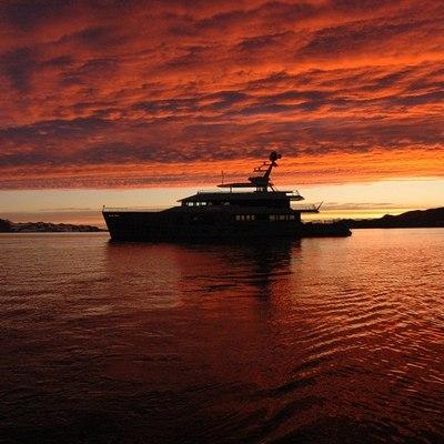 Big Fish Yacht Sunset