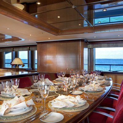 Jaguar Yacht Dining Salon