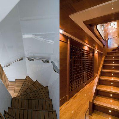 O'Ceanos Yacht Staircase