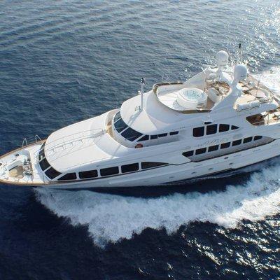 Aura Yacht Running Shot - Aerial