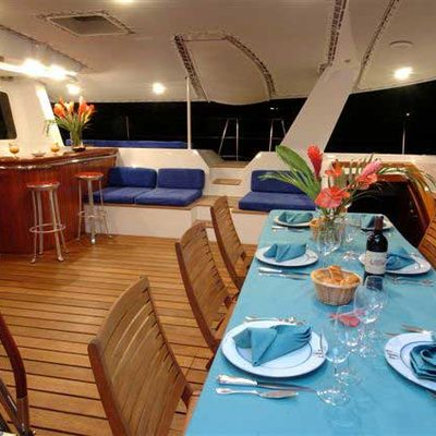 Douce France Yacht Exterior Dining