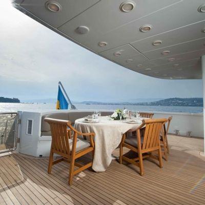 Palm B Yacht Dining Deck