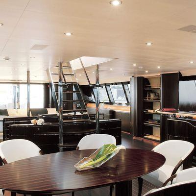 Parsifal III Yacht Salon - Stairs